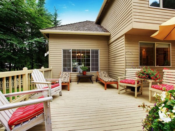 Beautiful deck with furniture