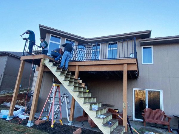 Repairing a second story deck