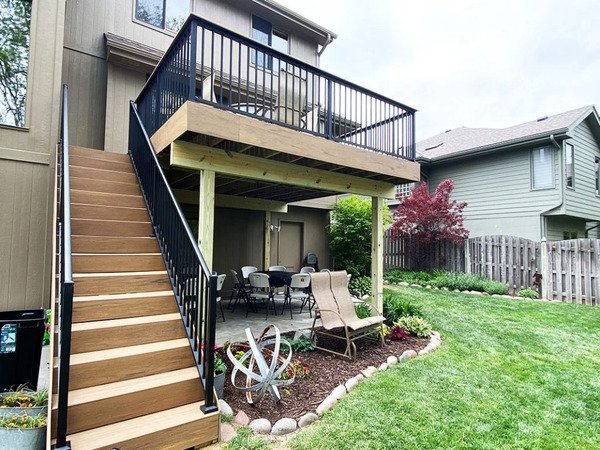 Deck with patio beneath it